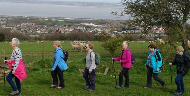 Members of the Holywell walking group