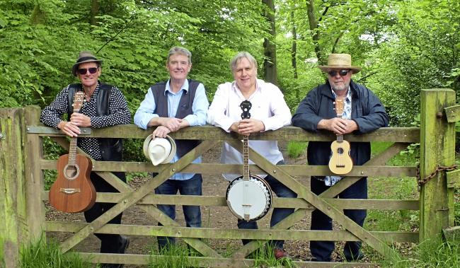 The Houghton Weavers, with Tony Berry (second from left).