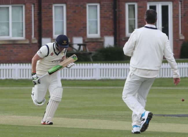 Chester Boughton Hall captain Rick Moore in action