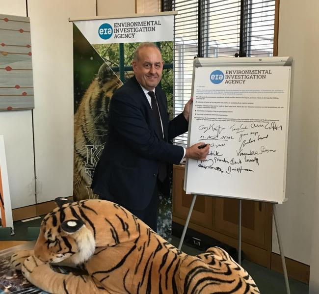 David Hanson – MP for Delyn – has joined the Indo-British All-Party Parliamentary Group (APPG) in parliament to support their calls to end the trade of big cats for 'traditional medicines', 'luxury home décor' an