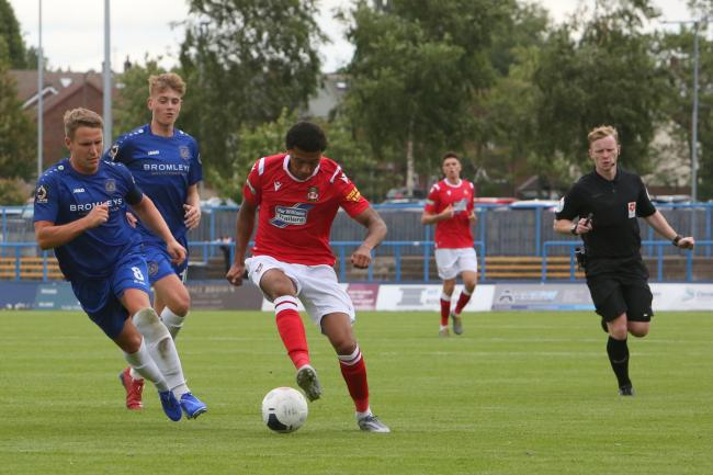 Devonte Redmond in action against Curzon Ashton