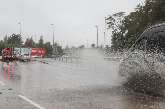 Heavy rain in Wrexham earlier this year
