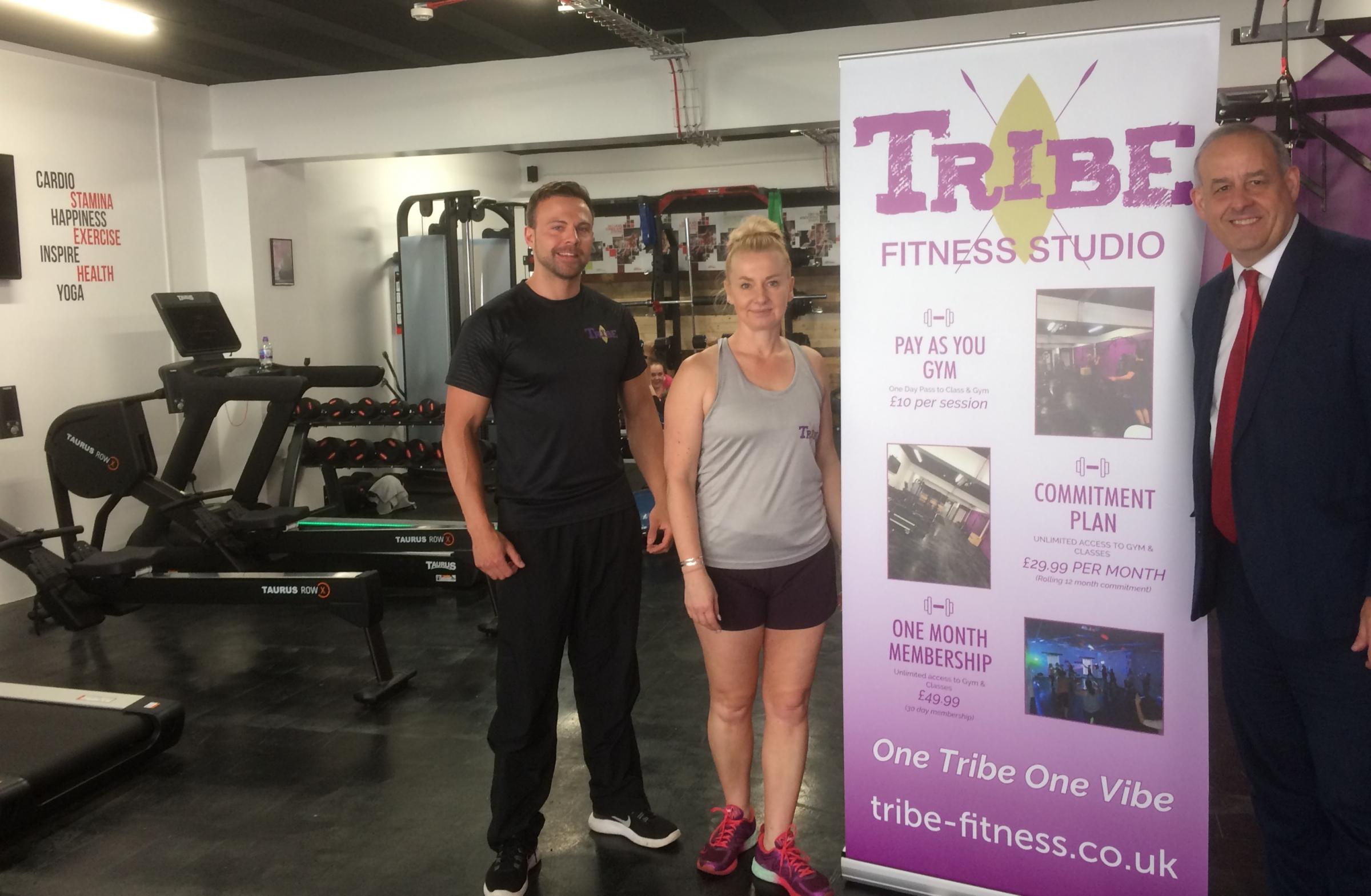 Tribe Fitness in Flint visited by David Hanson MP