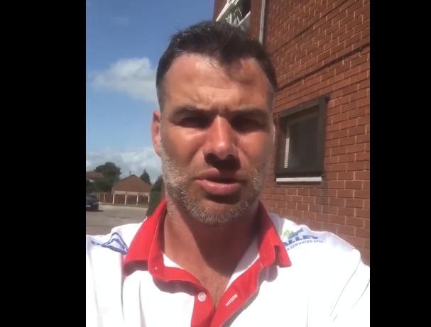 Former Welsh rugby union star Mike Phillips has sent a speedy recovery message to a Wrexham Policeman.