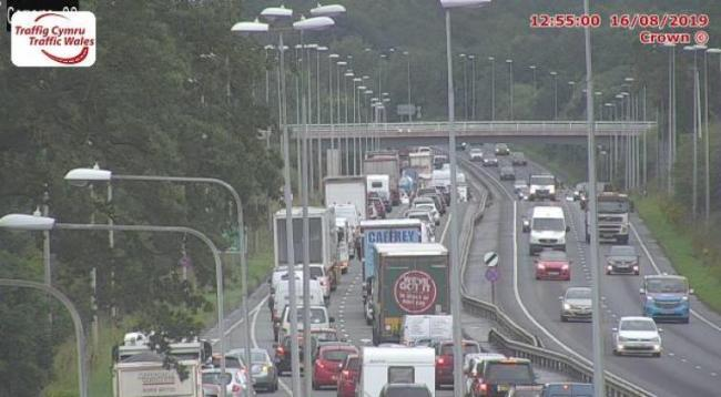 J32a Pentre Halkyn (Eastbound). Image from Traffic Wales cameras.