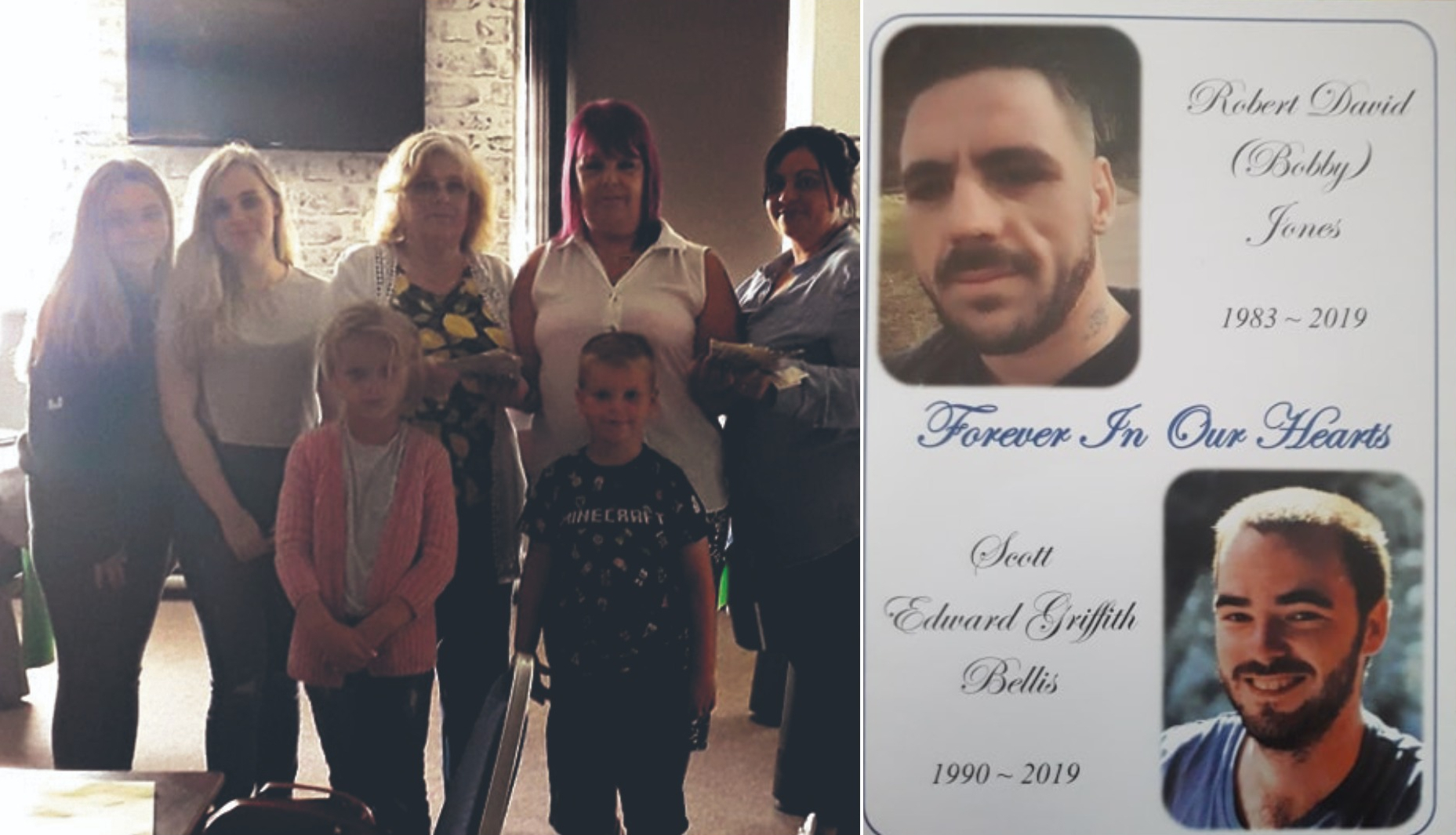 Wrexham mum who lost her two sons within 24 hours thanks community for helping raising funds to cover funeral costs