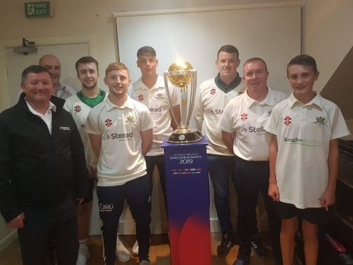 Dozens queue to see Cricket World Cup trophy at Pontblyddyn Cricket Club