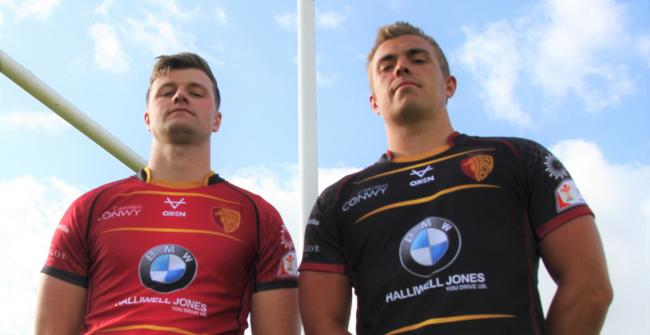 Dion Jones and Dan Owen in the new RGC kit (Photo by Skeates Images)