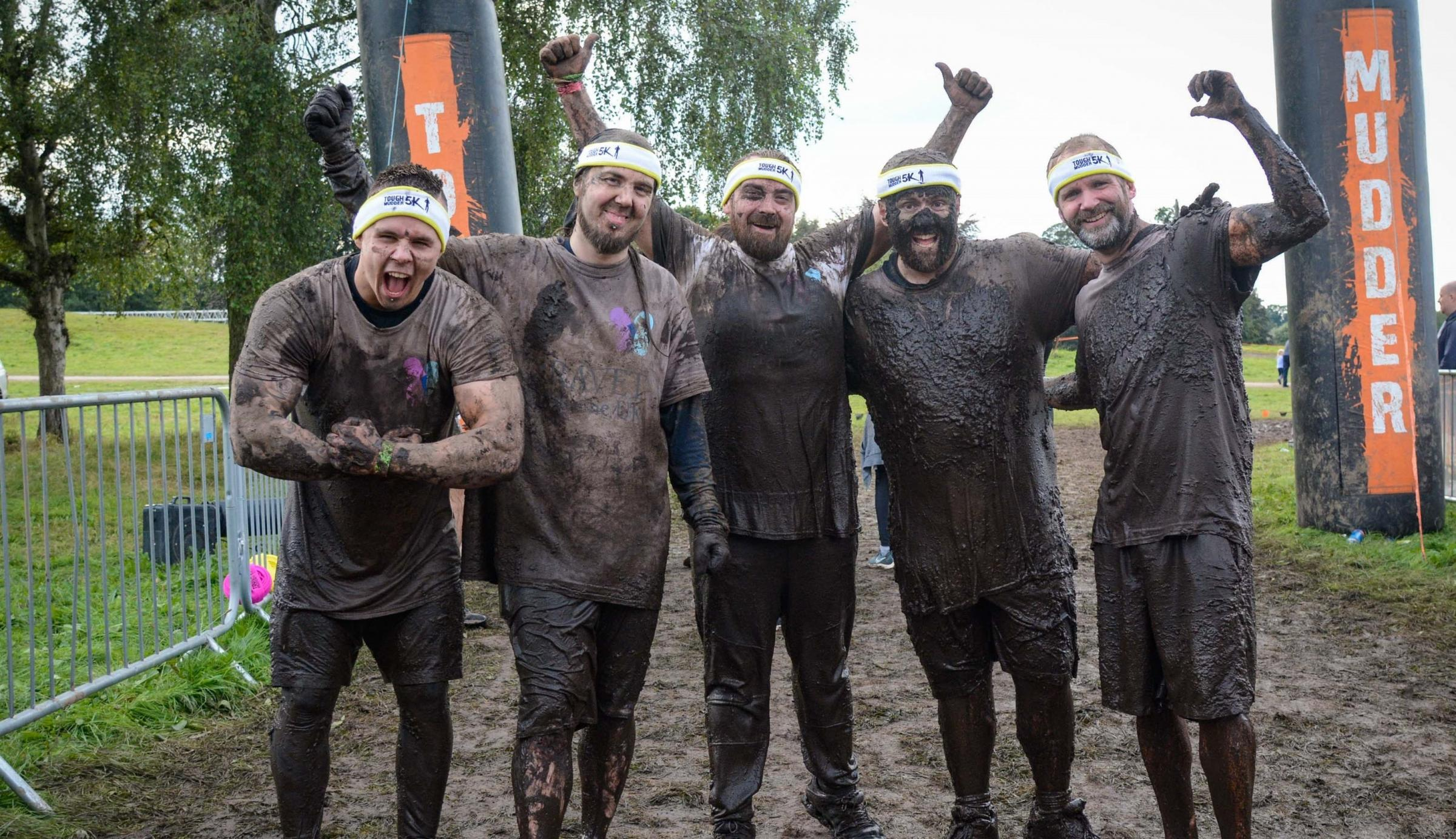 Five Wrexham friends tough it out to help raise money for charity