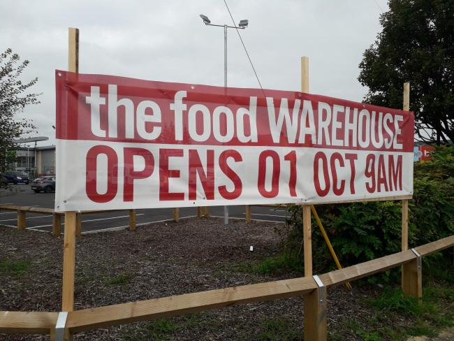 Food Warehouse to officially open its doors next month.