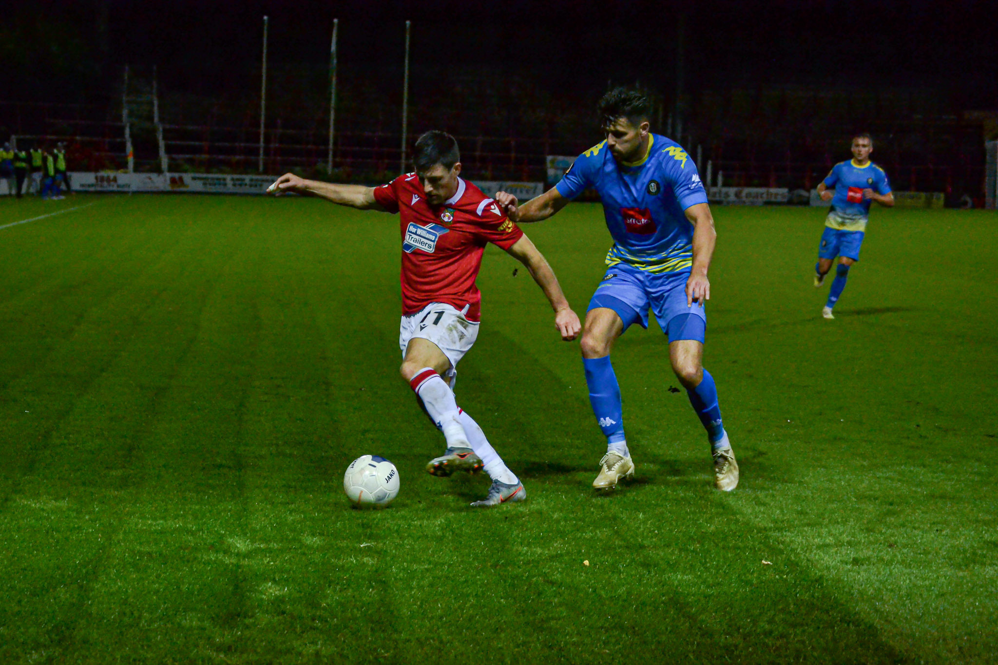 Wrexham AFC striker Bobby Grant says it is somebody else's turn from the penalty spot