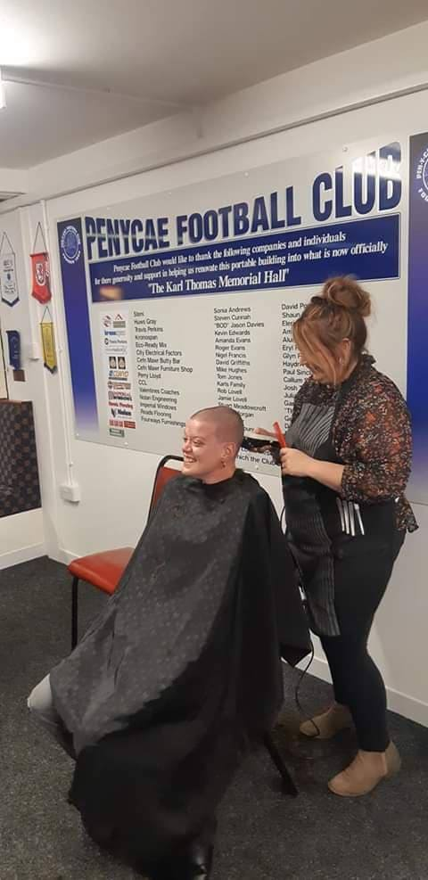 Brave Wrexham woman shaved her head for charity