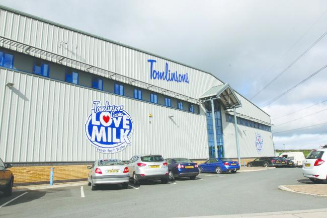 Wrexham Minera Five Crosses Industrial Estate, GV picture of Tomlinsons Dairy