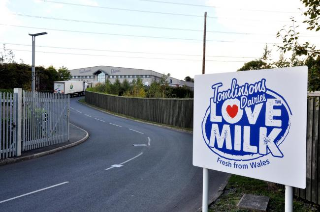 Wrexham Minera Five Crosses Industrial Estate, GV picture of Tomlinsons Dairy.
