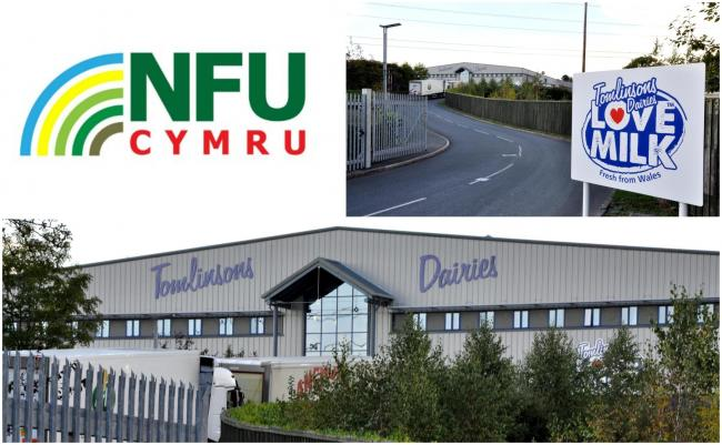 NFU Cymru has set up a meeting with farmers who have been affected by the news of Tomlinsons Dairies going into administration.