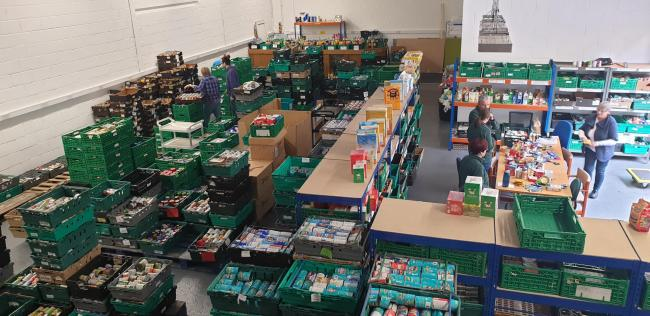 Wrexham Foodbank's new premises opened on Friday, October 18