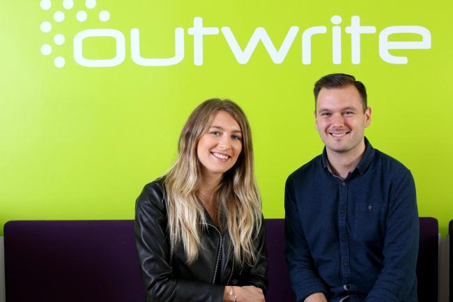 Alice Lee and David Humphreys, new hires at PR firm Outwrite