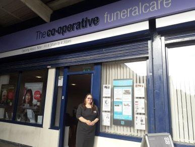Lisa Jones, a funeral arranger and member pioneer at the Co-operative, on Dodds Lane in Gwersyllt.