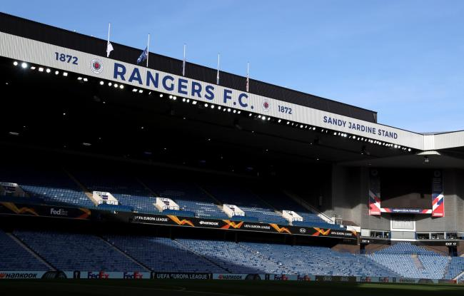 A general view of the stadium before the UEFA Europa League Group G match at Ibrox Stadium, Glasgow..