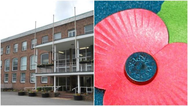 Wrexham Council has apologised for its choice of picture in a Remembrance Day Facebook post.