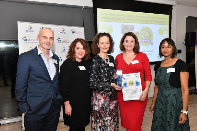 Team members Dr Stephen Stanaway, Dr Rose Stewart, Cheryl Griffiths and Elaine Jennings were present at the ceremony in Reading to collect the award.