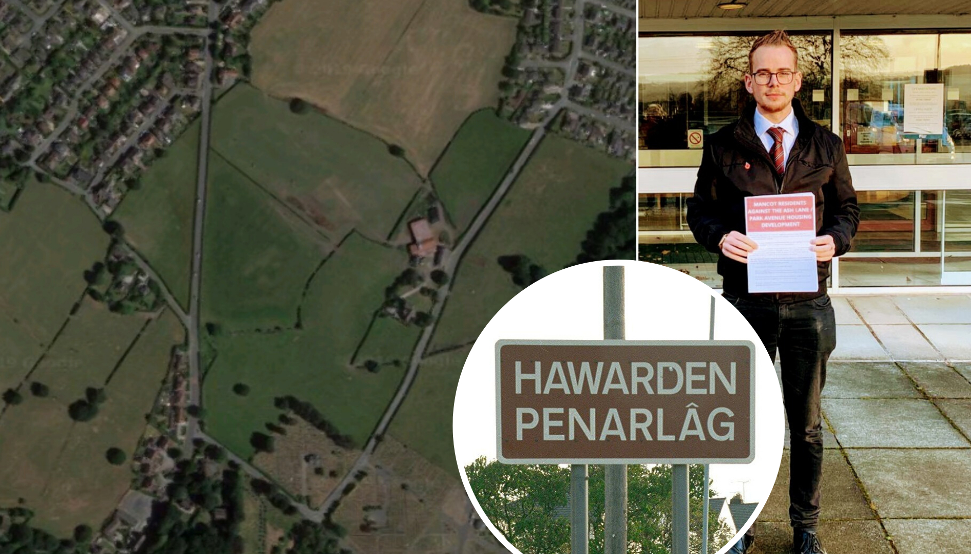 Hawarden councillor delivers petition to Flintshire Council opposing plans for 280 homes