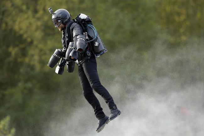 Fastest speed in a body-controlled jet engine power suit record