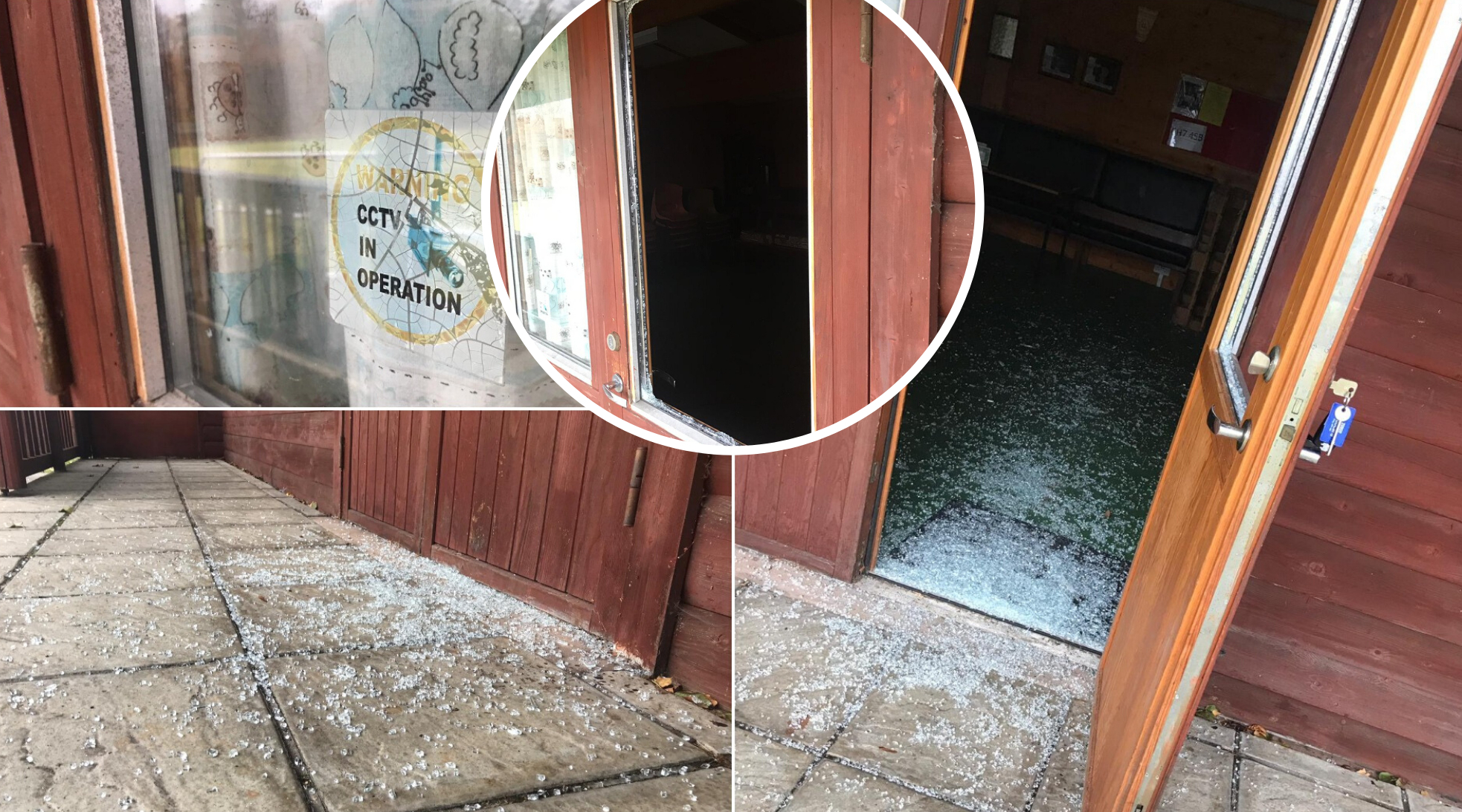Window smashed to pieces as vandals target Leeswood Bowling Club