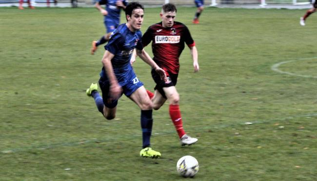 ACTION: Bangor v Gresford. Picture: EVENTPHOTOWALES