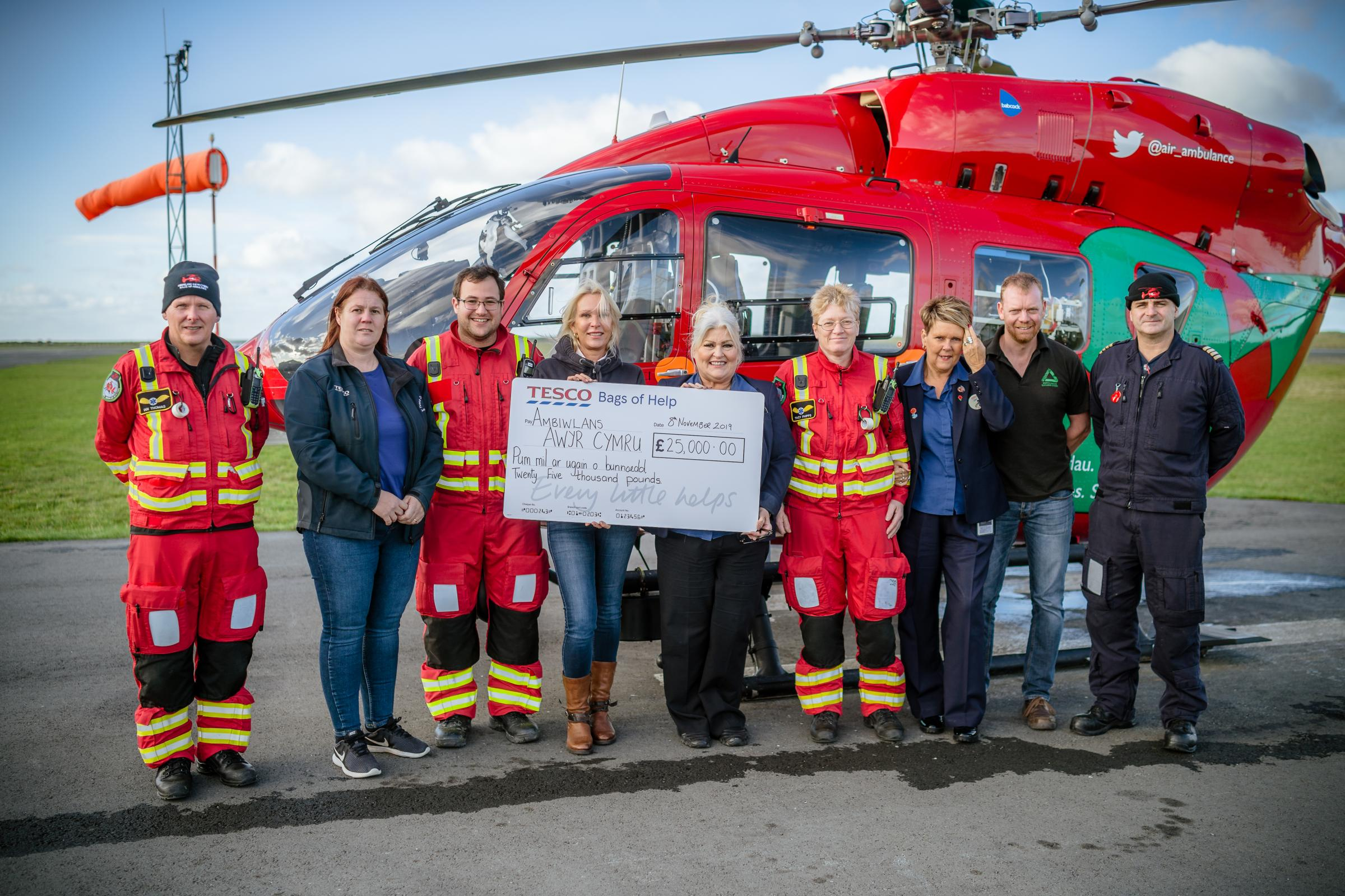 Wales Air Ambulance gets funding boost thanks to Tesco customers