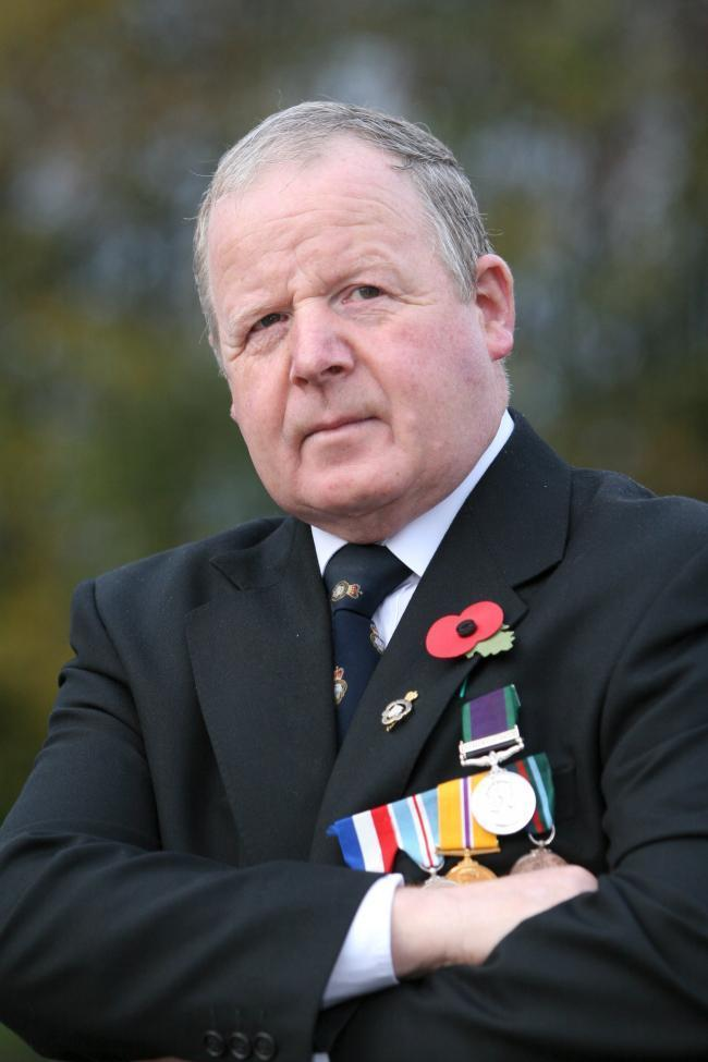Former soldier raises hundreds in a bid to remember the fallen heroes of the war