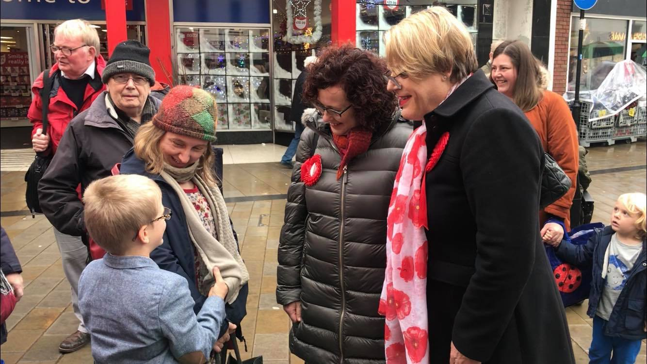 Labour MP candidate joined by comedian Eddie Izzard on Wrexham campaign trail