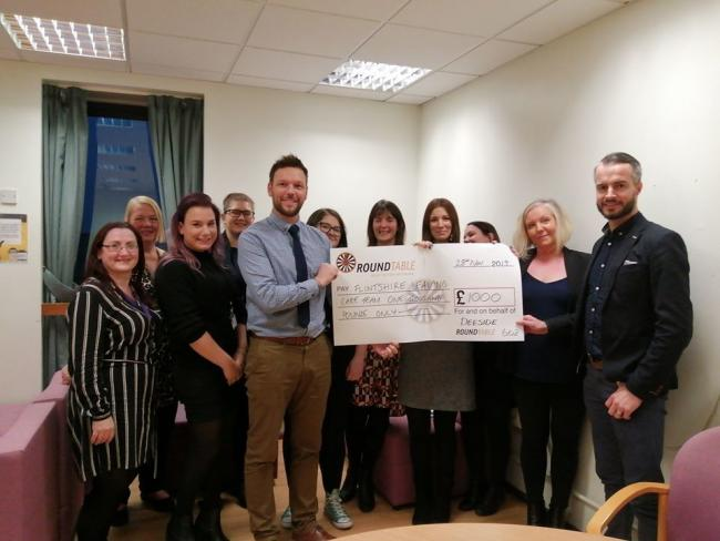 Deeside Round Table donates funds to Flintshire Leaving Care Team.