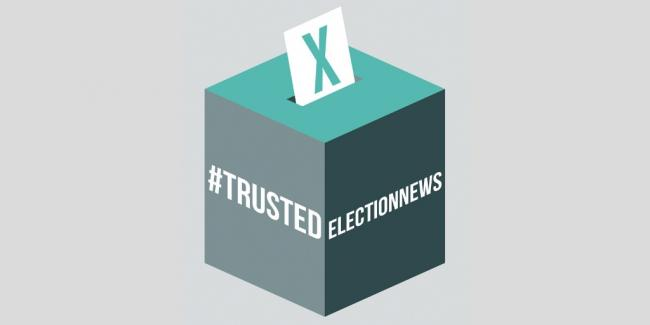 Trusted Election News logo