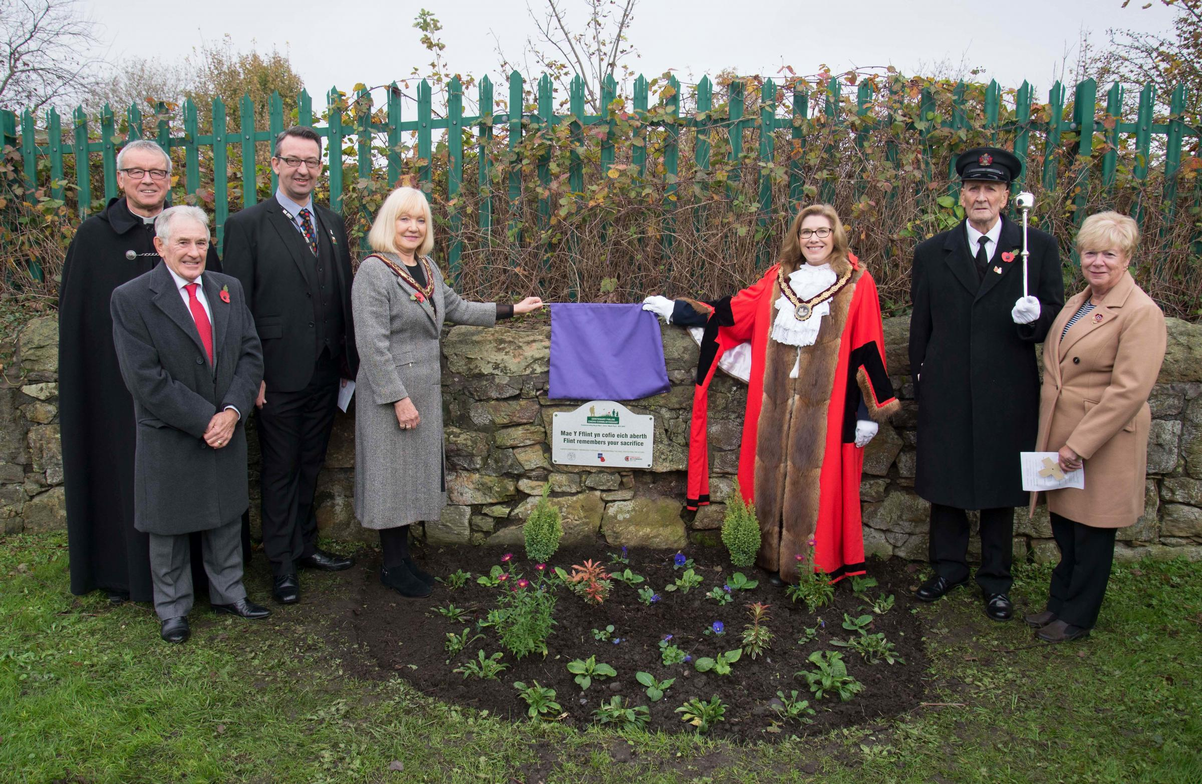 Centenary Field ceremonies dedicated to 'World War One generation' of Flintshire