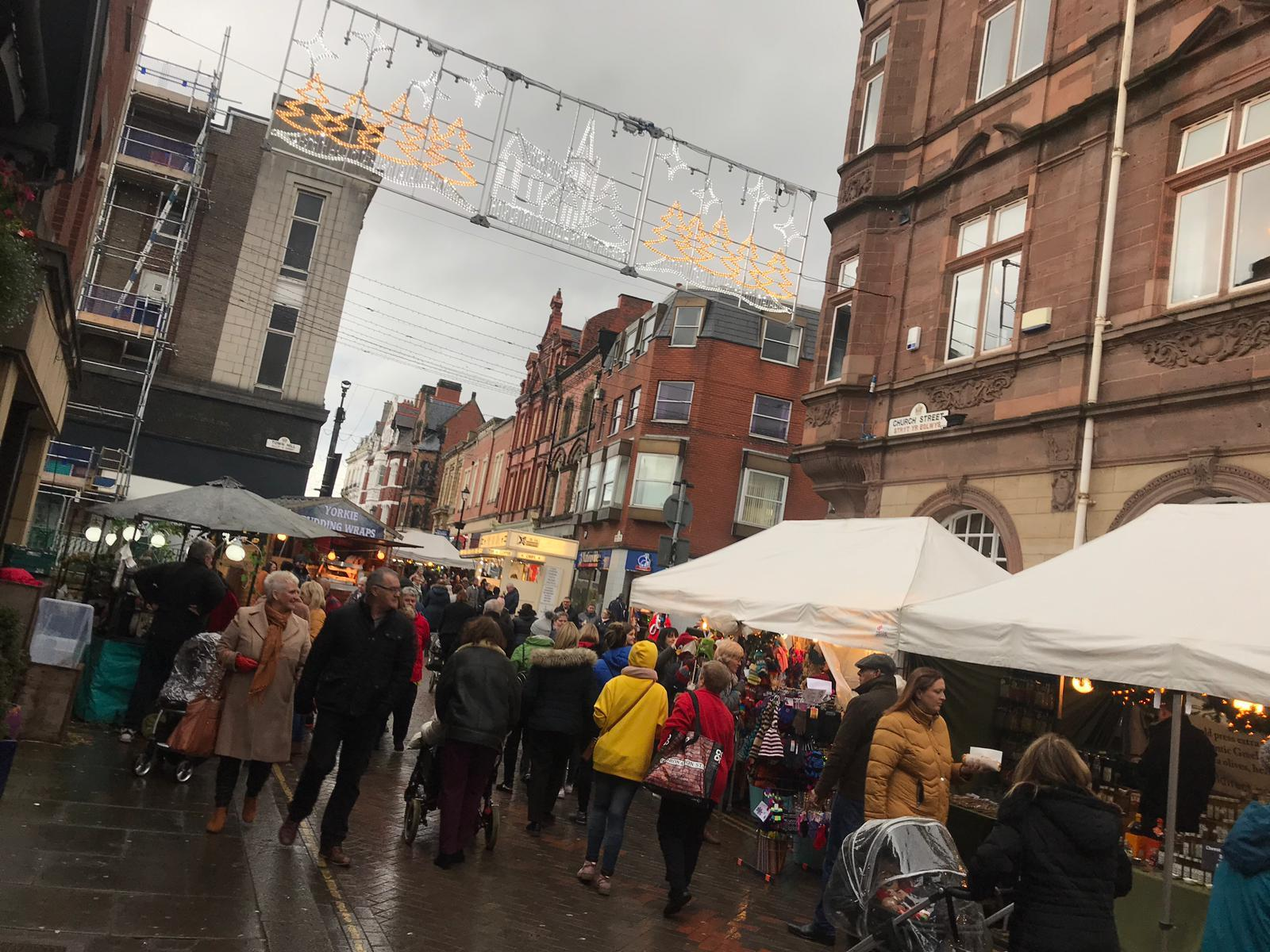 Thousands flock to Wrexham for Victorian Christmas market