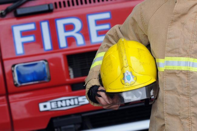 Firefighters were called out to a house fire in Saltney.