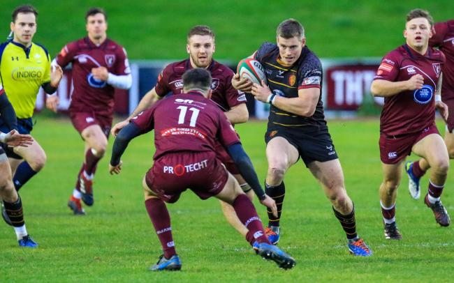 Tom Hughes began the RGC fightback at Swansea (Photo by Tony Bale)