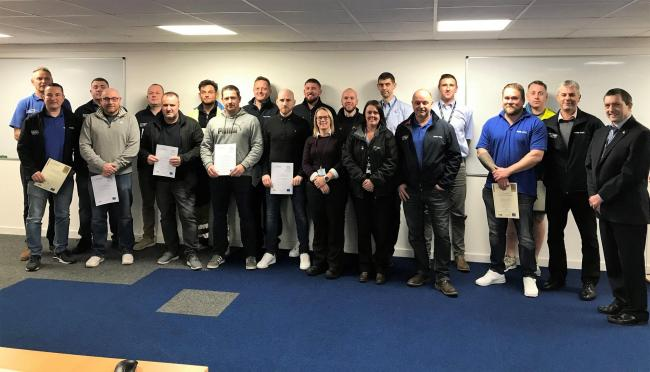 The group includes new and existing employees at Tata Steel's Colorcoat production facility in Shotton