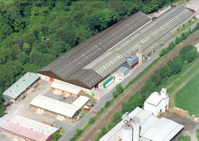 An aerial shot of Canal Wood Industrial Estate.