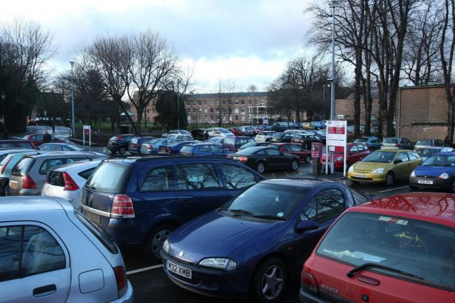 Wrexham Library car park