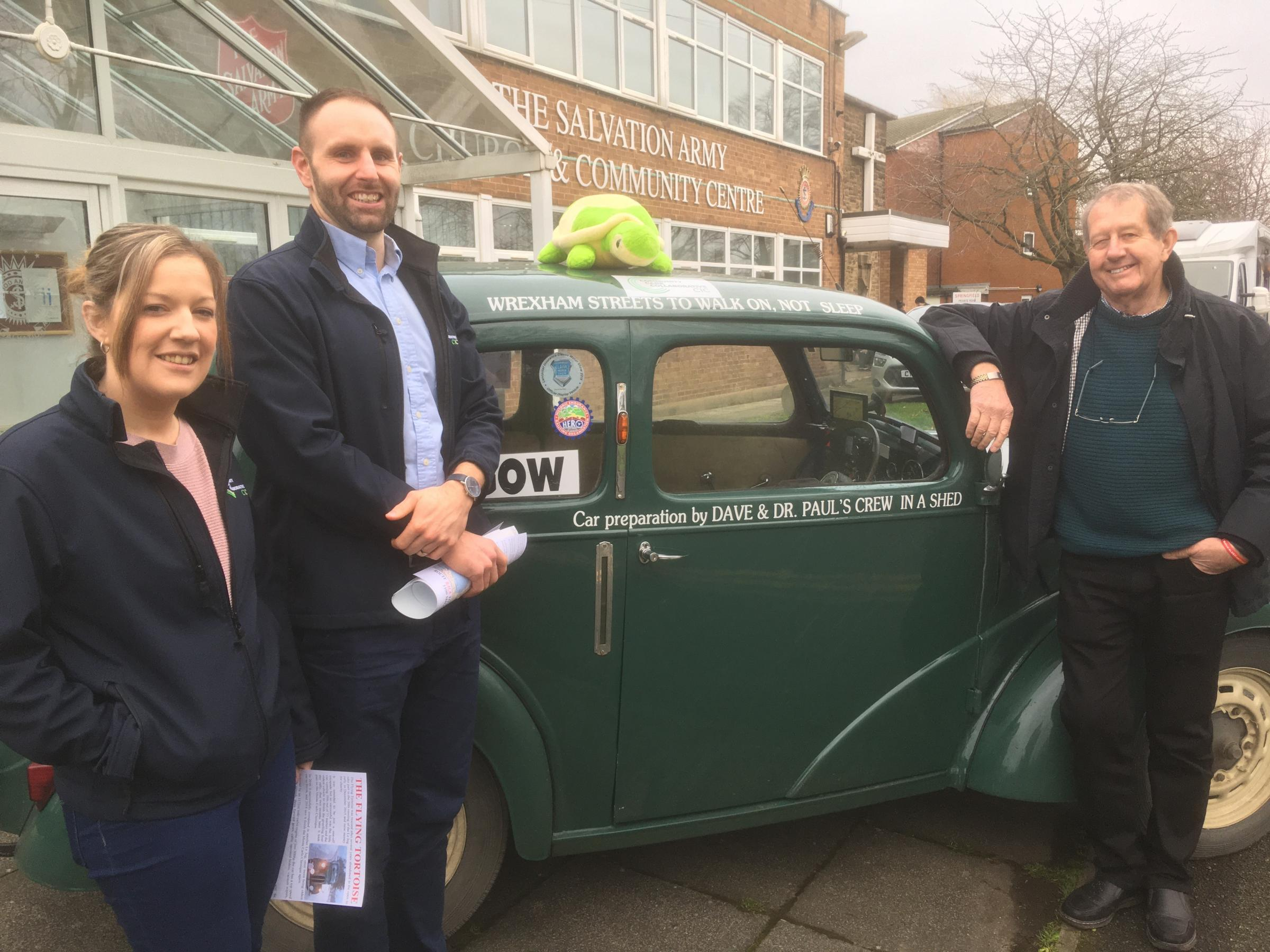 It's Monte Carlo or bust for famous Flying Tortoise in support of Wrexham's rough sleepers