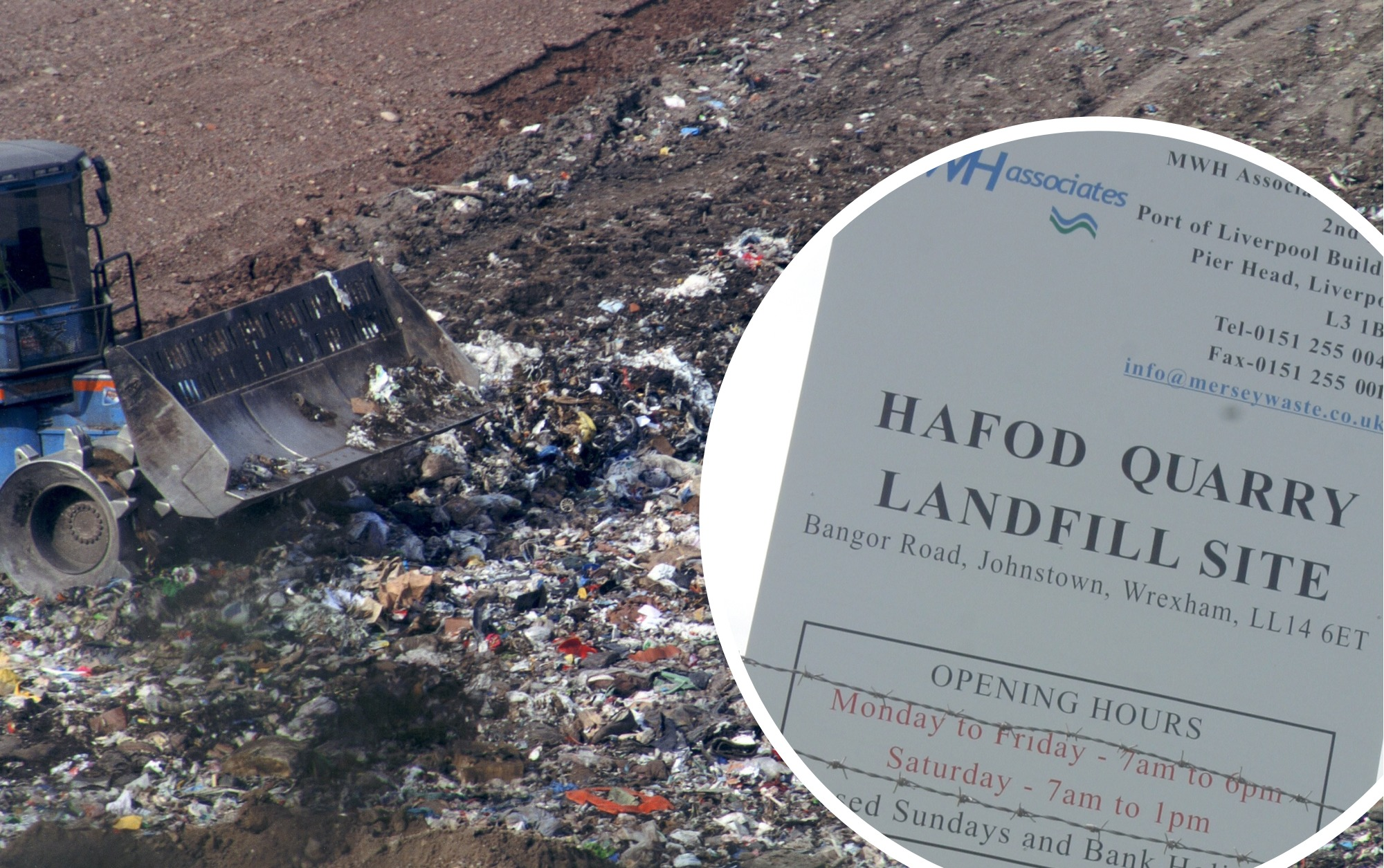 Concerns as 'vile' smell from Wrexham landfill site is 'getting worse'