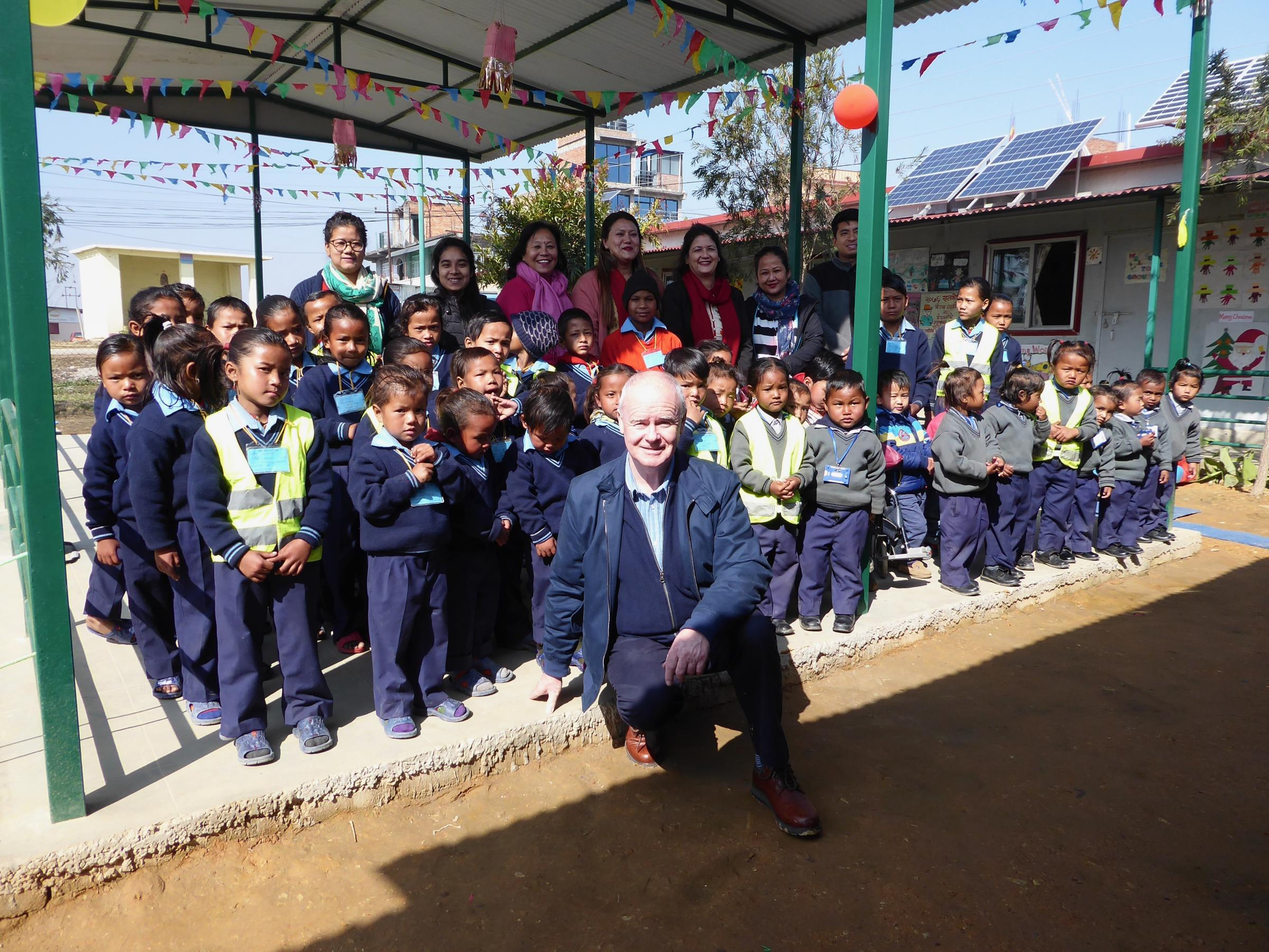 Wrexham man returns to Nepal to mark 20 years since founding a school