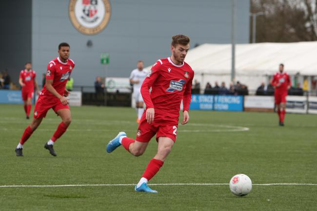 Attacking midfielder Dan Jarvis in action at Bromley
