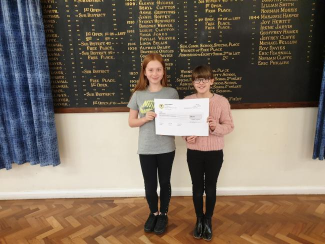 Charley Walker and Ava Elliott who are members of the School Council at Ysgol Deiniol. (Source Ysgol Deiniol)