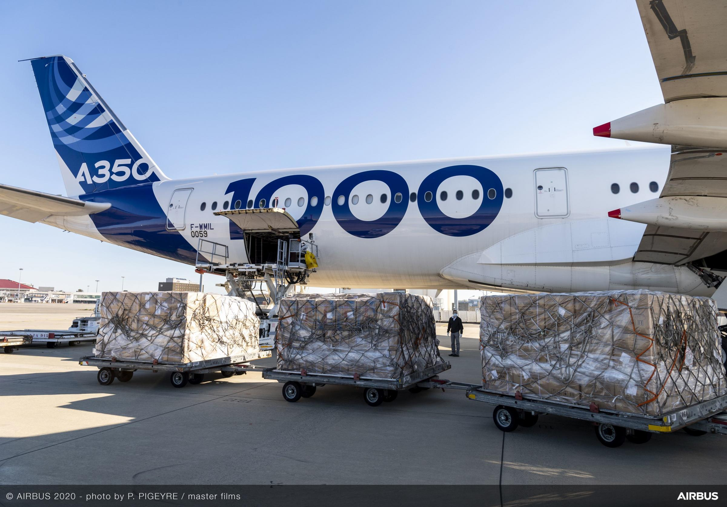 Airbus brings four million face masks to Europe