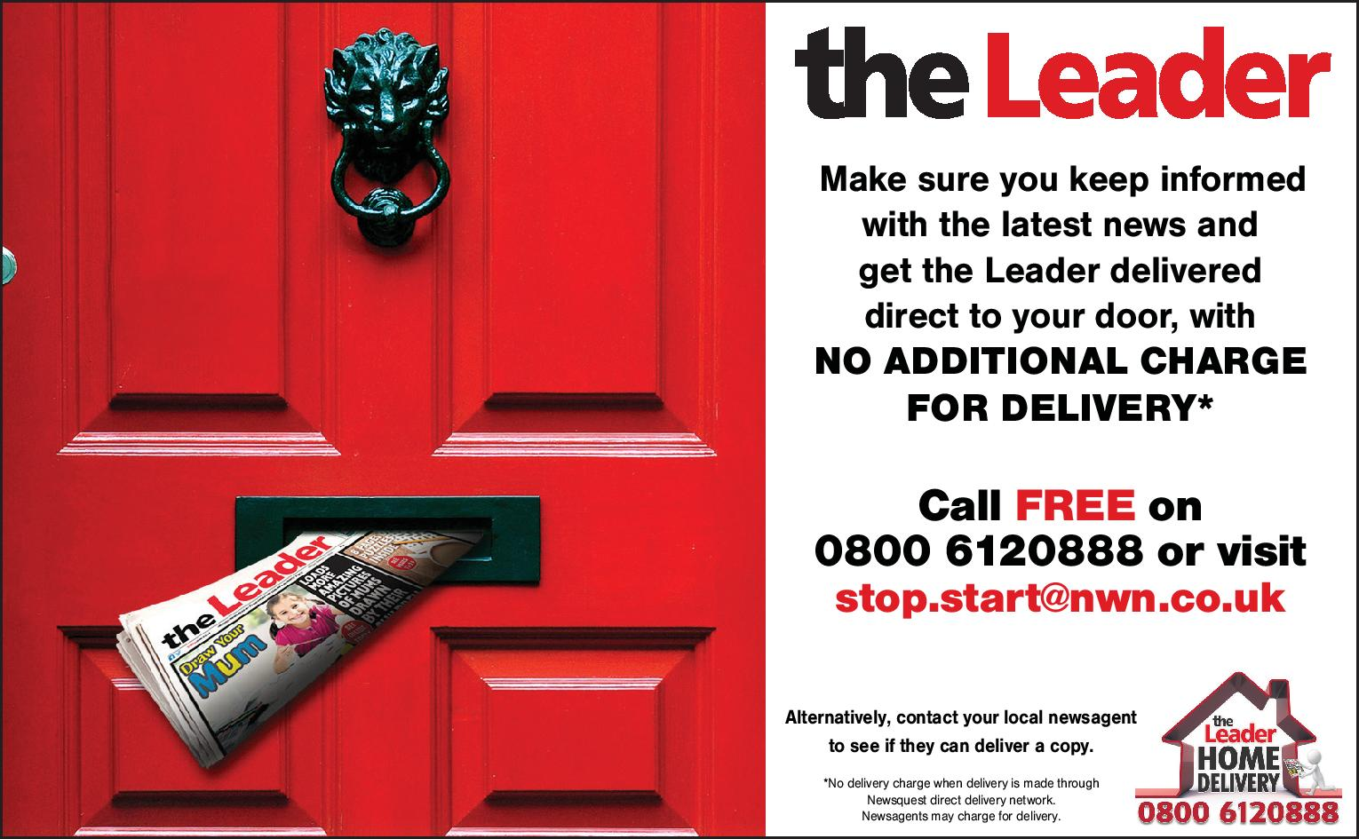 leaderlive.co.uk  the Leader Home Delivered