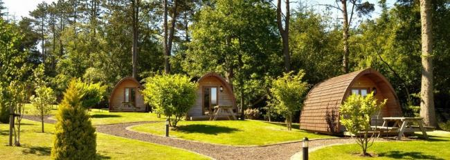 Approval has been given to proposals to put four glamping pods and two yurts on land off Kinnerton Road in Higher Kinnerton. Source: Planning document