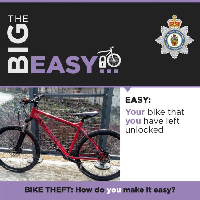Bike safety warning. Image: NWP